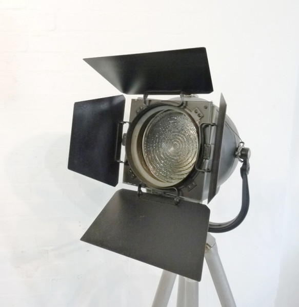 1: Vintage 'Strand Electric' Black Studio Spotlight