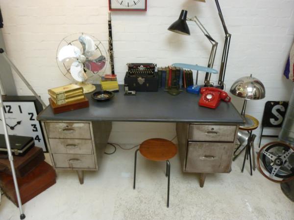 3: Brushed steel desk