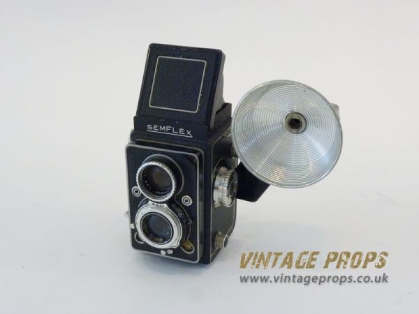 1: Semflex vintage camera with flash light