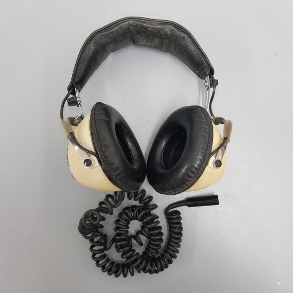 1: Cream Retro Headphones