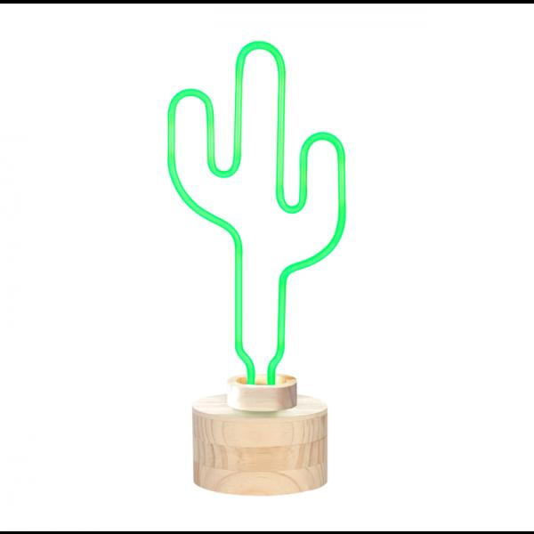 3: Neon cactus table lamp
