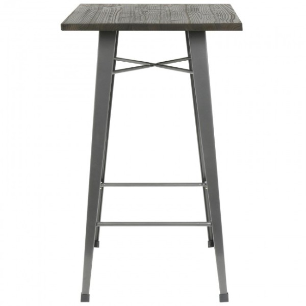 5: Tall Poseur Table with Wooden Top