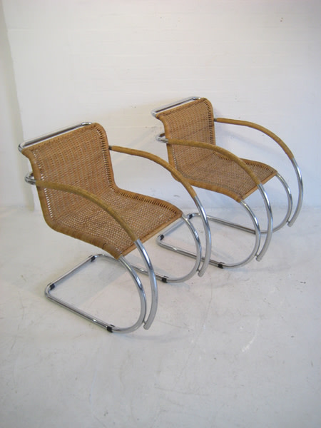 4: Cantilever chairs designed by Mies van der Rohe