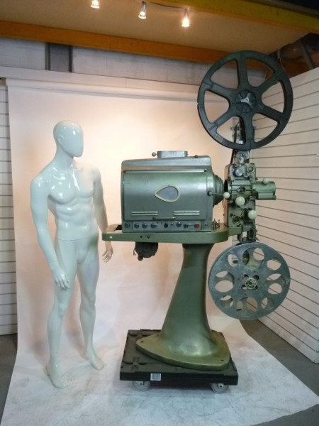 4: Large vintage cinema projector