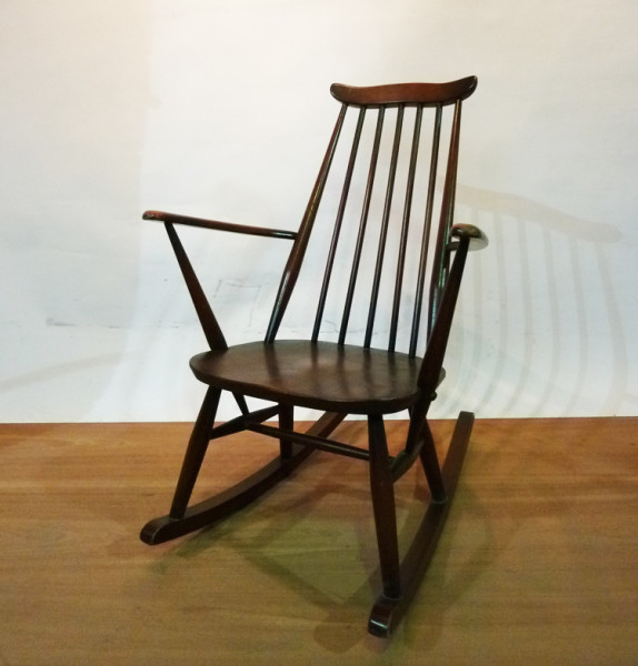 3: Wooden Rocking Chair