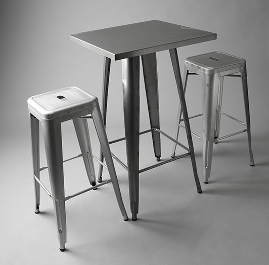 3: Tall Tolix Poseur Table