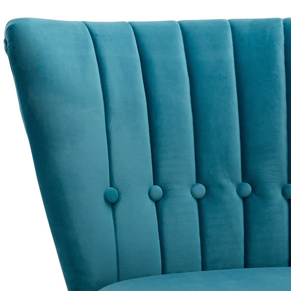 6: Velvet Cocktail Chair - Teal
