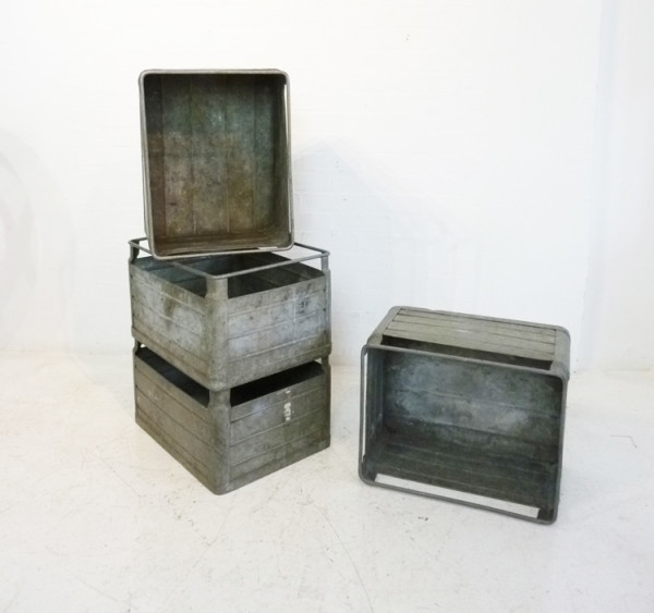 4: Metal Stacking Crates