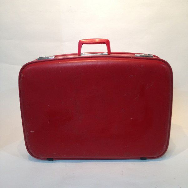 2: Red Hard Shell Suitcase