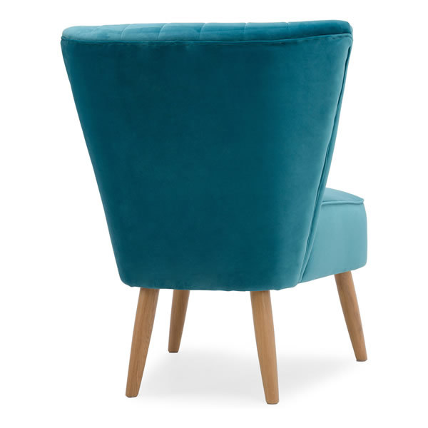 7: Velvet Cocktail Chair - Teal