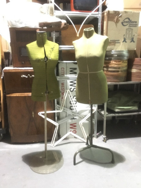 2: Vintage dress mannequins