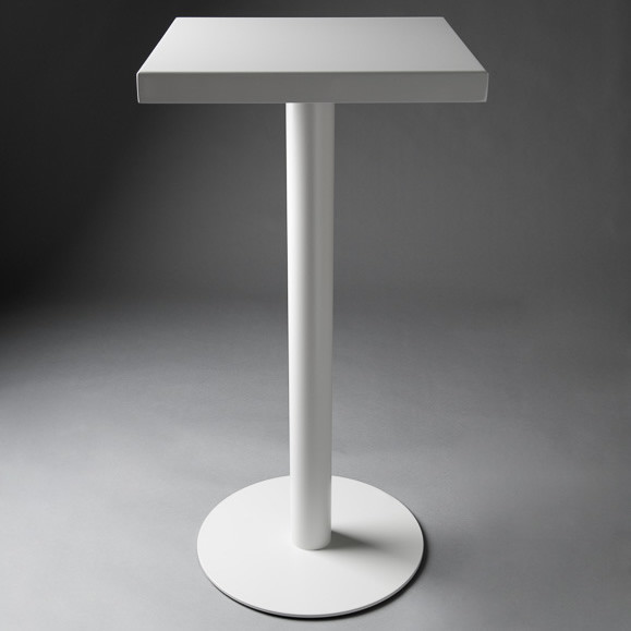2: White Square Poseur Table