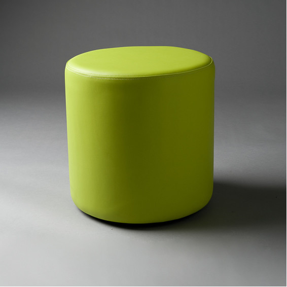 2: Small Green Round Pouf