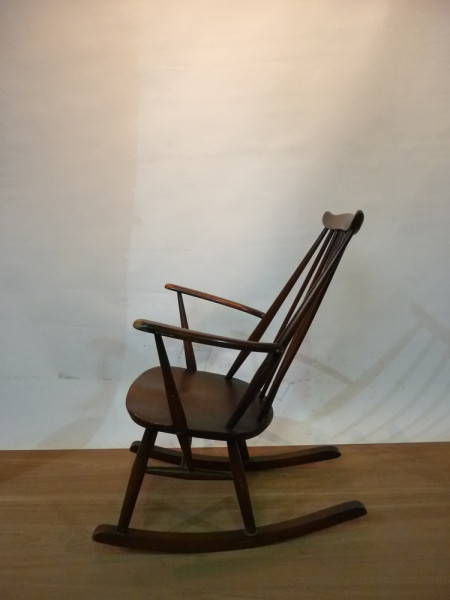 2: Wooden Rocking Chair