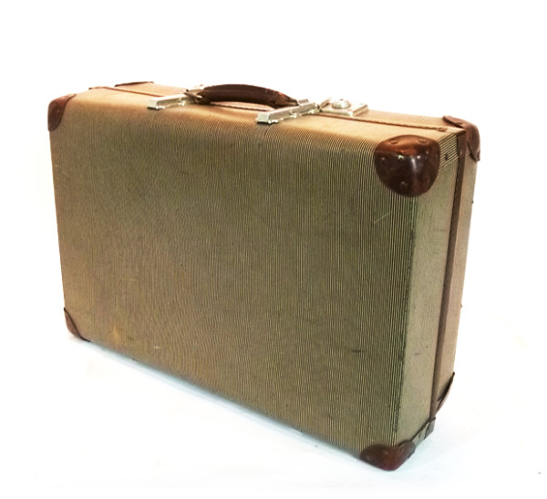 3: Beige Hard Shell Suitcase