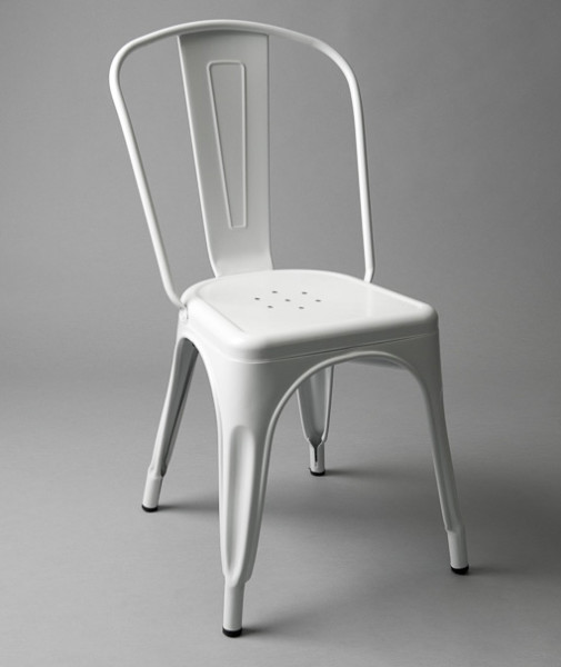 4: White Metal Outdoor Chair (With or Without Padding)