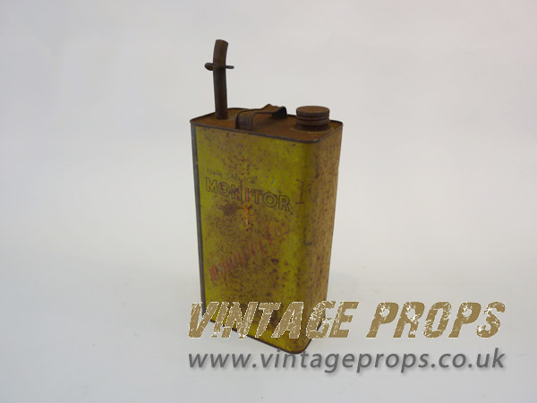 1: Vintage tin fuel can