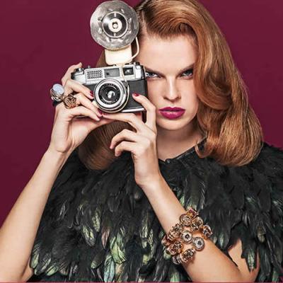 Elegant Magazine Photo Shoot - Vintage Cameras