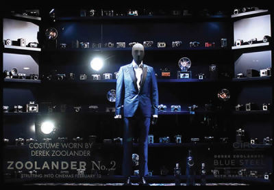Zoolander No.2 'Blue Steel' movie press launch in colaboration with Mario Testino / Window Display at Selfridges London