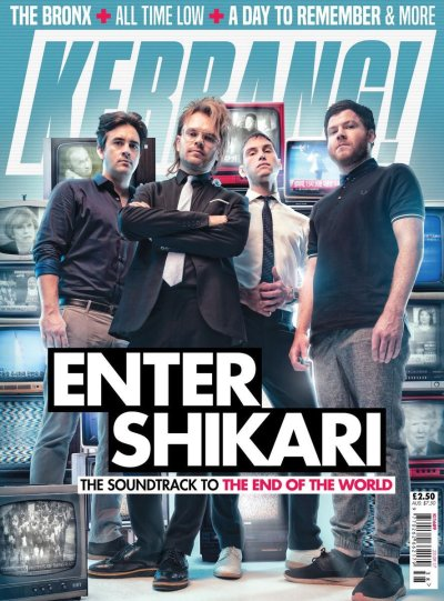 Kerrang Magazine front cover featuring a selection of our vintage fully working TV's