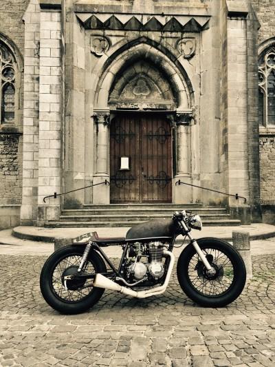 Vintage motorcycle photoshoot