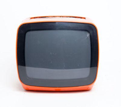 Non practical 'Indesit' retro orange TV
