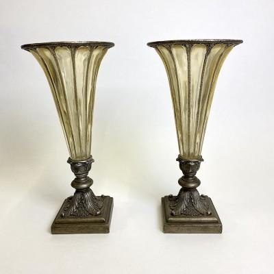 Tall decorative flute vases