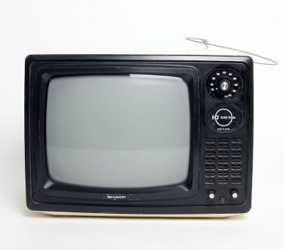 Fully working black & white Sharp Solid State TV