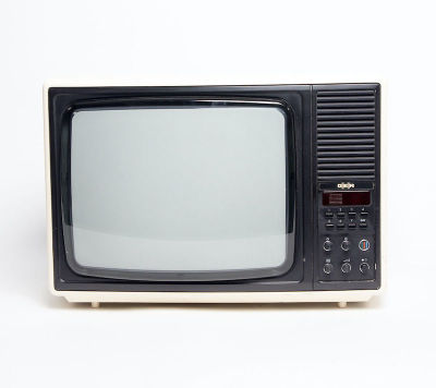 Fully working colour Thorn D-E-R TV with white case