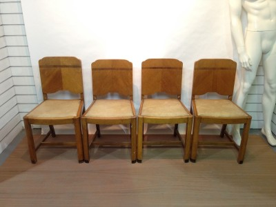 1940's oak dining chairs