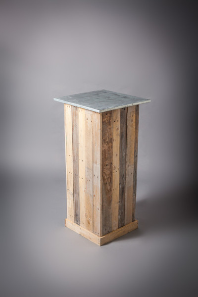 Zinc Top Wooden Plinth