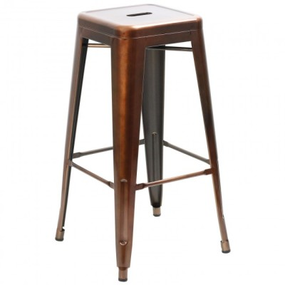 Copper Tall Tolix Stool