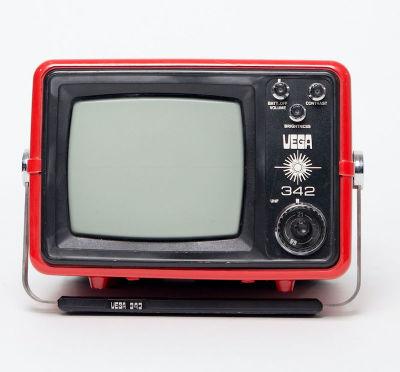 Non practical red mini Vega 342 TV