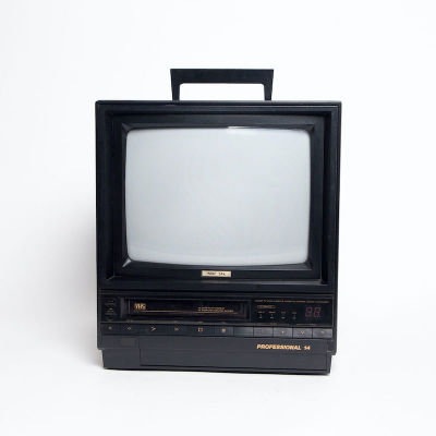 Fully working Professional 14 colour TV with integrated VHS player