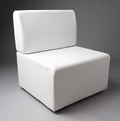 White Straight Back 70cm Length Modular Seat