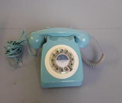 Powder blue telephone