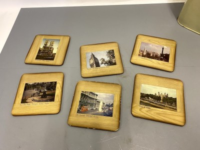 Vintage coasters with images of London