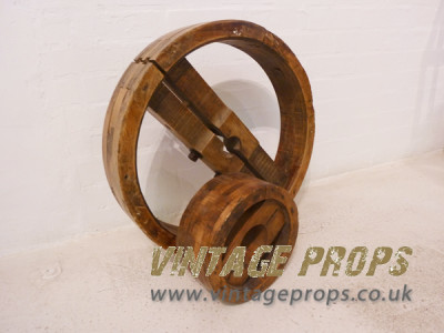 Wooden mill wheels