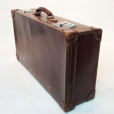 Brown Leather Suitcase 4