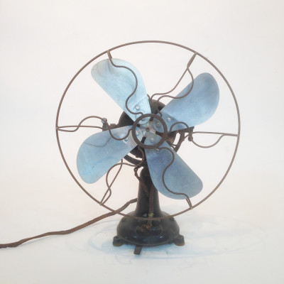 Vintage industrial desk fan - Black
