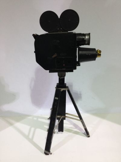 Vintage movie camera projector