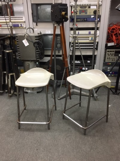 Stacking lab stools with metal legs