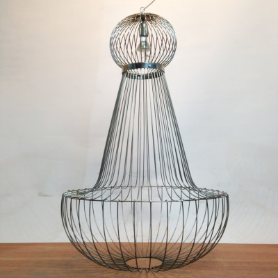 Large Wire Frame Chandelier