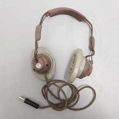 Brown & grey retro headphones