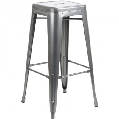Grey Tall Tolix Stool