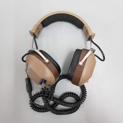Tan & brown retro headphones
