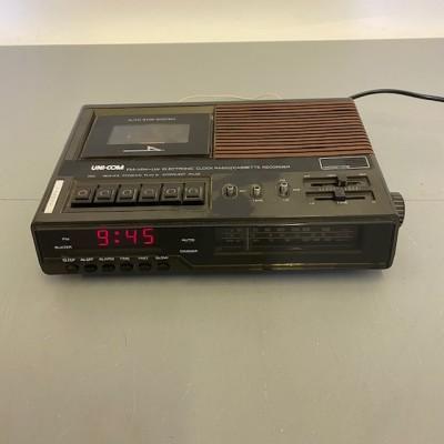 Retro Clock Radio/Cassette Recorder