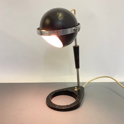 Black & Chrome Retro Desk Lamp - working