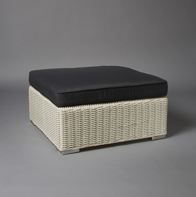 Light Base Rattan Ottoman