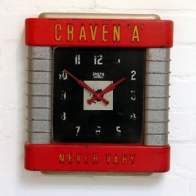 Retro advertising clock